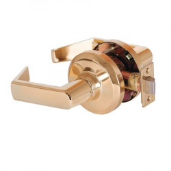 Stanley QCL 100 Series Grade 1 Extra Heavy Duty Cylindrical Sierra Lever, Polished Brass
