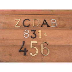 """Brass Accents I07-L91 Traditional 4"""" Letters"""