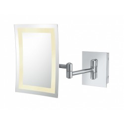 Kimball & Young Single Sided LED Rectangular Wall Mirror - Grounded Hardwired