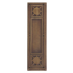 "Brass Accents A04-P7200 Nantucket Push and Pull Plate - Exterior 3 3/4"" x 13-7/8"""
