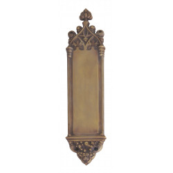 "Brass Accents A04-P5600 Gothic Push and Pull Plate - Interior 3 3/8"" X 16"""