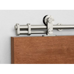 Pemko CS-W60 Sliding Track Hardware System With Cushion Stop, Stainless Steel
