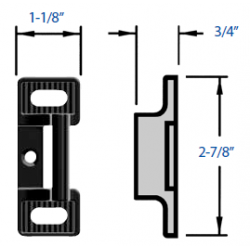 Precision S Strike for Vertical Rod Devices
