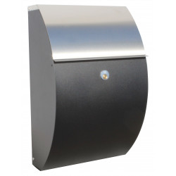 QualArc ALX-7000-BS Allux Mailbox in Black/Stainless Color