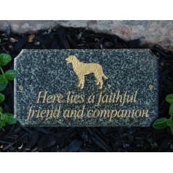 "QualArc EXE-LOGO Executive ""cut corner"" Solid Granite Pet Memorial & Wildlife  Plaque"