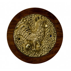 QualArc DB-1013-RS Rooster Doorbell Button Cover, Brass
