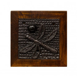QualArc DB-1011-DF Dragon Fly Doorbell Button Cover, Brass in Dark Bronze