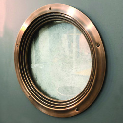 Philip Watts Deco Porthole for 35mm and 44mm Doors, Cast Bronze