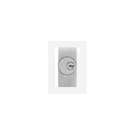DCI 03C-LTD Outside Trim for 1200 & 1300 Series, Key Retracts Latch Escutcheon Only with Cylinder Prep