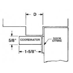 DCI 600-3200 Coordinator Mounting Package & Door Strikes