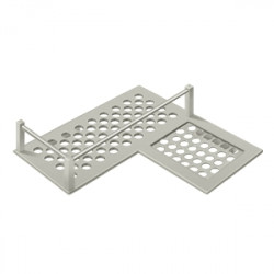 "Deltana WBHDCR9 Bathroom Basket HD Corner right 9"""