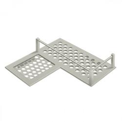 """Deltana WBHDCL9 Bathroom Basket HD Corner left 9"""""""