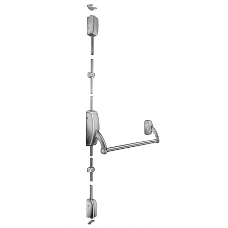 Sargent ET 9700 Series Surface Vertical Rod Exit Device w/ Gramercy, Wooster Square, Grant Park Levers