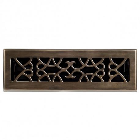 Brass Élégans™ 120 Solid Cast Brass Victorian Floor Register