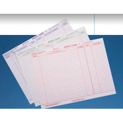 Lund Cross Index Cards, Numerical
