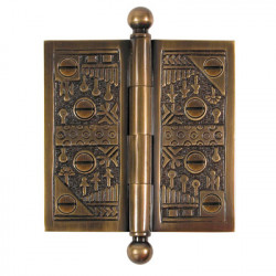 Brass Elegans WC Solid Brass Windsor Hinges
