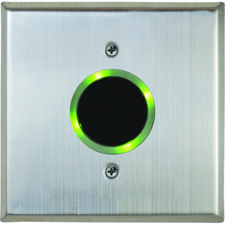 Camden CM-331 Battery Powered Wireless Active Infrared Hands-Free Switch with Stainless Steel Faceplate