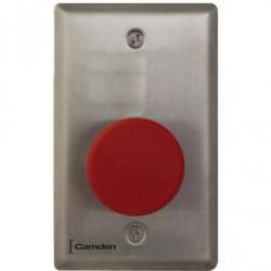 Camden CM-450RL-7724-CPC Single Gang Faceplate, Heavy Duty, Vandal Resistant Mushroom Push Button, Stainless Steel
