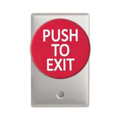 Camden CM-5085PTE Mushroom Push Button w/ Aluminum Faceplate Single Gang