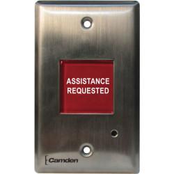 Camden CM-AF501SO Single Gang Led Annunciator w/ Adjustable Sounder, 'Assistance Requested'
