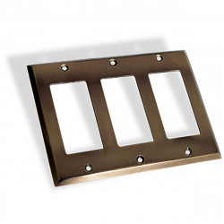 Colonial Bronze 6008-3G Triple GFI Square Bevel Switch Plate