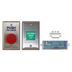 Camden CX-WC11 Restroom Control Kit, Push to Lock & Single Gang Annunciator