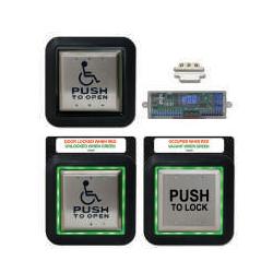 Camden CX-WC13XFM/SM Restroom Control Kit, Aura Illuminated Push Plate Switch System