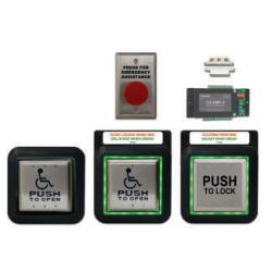 Camden CX-WC15XFM/SM Restroom Control Kit, Aura Illuminated Push Plate Switch & Assistance Switch System