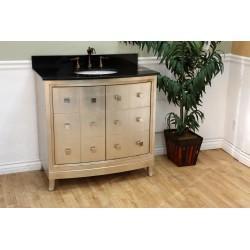 "Bellaterra 600003 36 In Single Sink Vanity-Wood-Bronze Silver - 36x22x36"""