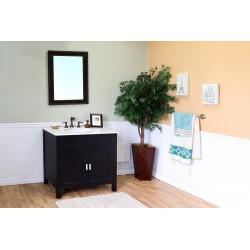"""Bellaterra 600168 36 In Single Sink Vanity-Wood-Ebony - 36x22x36"""""""