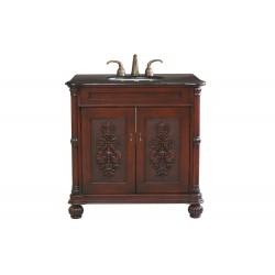 """Bellaterra 602335 36 In Single Sink Vanity-Wood-Colonial Cherry - 36x22x36"""""""
