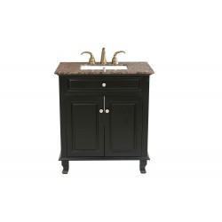 """Bellaterra 603215 32 In Single Sink Vanity-Wood-Ebony - 32x22x36"""""""