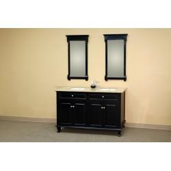 """Bellaterra 603215 62 In Double Sink Vanity-Wood-Ebony - 62x22x36"""""""
