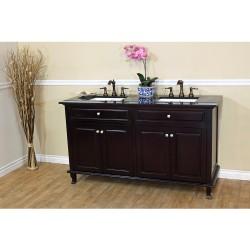 """Bellaterra 603215 62 In Double Sink Vanity-Dark Mahogany - 62x22x36"""""""