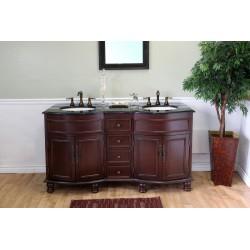 "Bellaterra 603316 62 In Double Sink Vanity-Wood-Colonial Cherry - 62x22x36"""