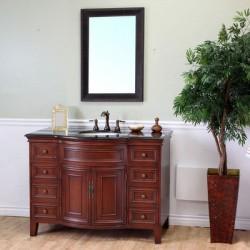 """Bellaterra 605115 48 In Single Sink Vanity-Wood-Light Walnut - 48x22x36"""""""