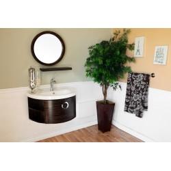 "Bellaterra 804338 34 In Single Vanity-Wood-Ebony-Zebra - 34x19.7x17.7"""