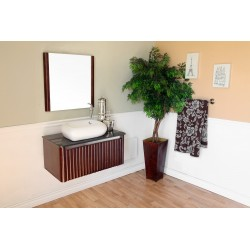 """Bellaterra 804347 32.5 In Single Sink Vanity-Wood-Walnut - 32.5x19.25x20.5"""""""