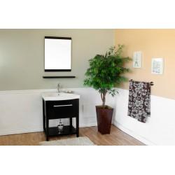 """Bellaterra 804353 27.5 In Single Sink Vanity-Wood-Black  - 27.5x18x36"""""""