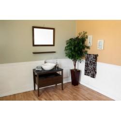 "Bellaterra 804357 35.5 In Single Sink Vanity-Wood-Dark Walnut - 35.5x19x36"""