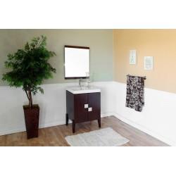 """Bellaterra 804366 25 In Single Sink Vanity-Wood-Walnut - 25x16x36"""""""