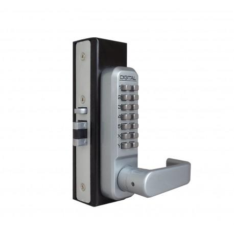 Lockey 2985 Mechanical Keyless Narrow Stile Lever Handle Lock With Passage Function