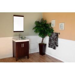 "Bellaterra 804381 23.8 In Single Sink Vanity-Dark Walnut-Wood - 24x18.5x36"""