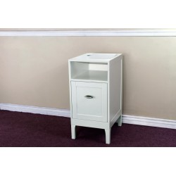 "Bellaterra 7711 16 In Cabinet-Wood-White - 16x20x32.3"""