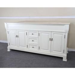 "Bellaterra 205072 72 In Double Sink Vanity-Wood-Cream White - 72x22.5x35.5"""