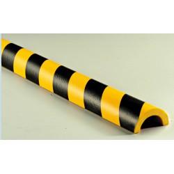 American Permalight 82-14754 R1 Type Pipe Bumper, Black-Yellow