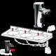 ASI 0390-(N) 0390Ez Fill™ Top-Fill, Multi-Feed Liquid Soap Dispenser Heads