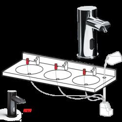 ASI 0393-(N) Ez Fill™ Top-Fill, Multi-Feed Foam Soap Dispenser Heads