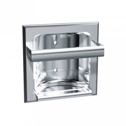 ASI 0410-Z Soap Dish With Round Bar – Recessed, Chrome Plated Zamak