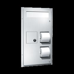 ASI 0481 Toilet Seat Cover & Toilet Tissue Dispenser W/ Napkin Disposal (Dual Access)